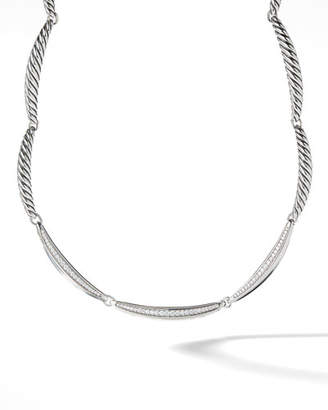 David Yurman Tides Single-Row Triple-Diamond Pave Necklace