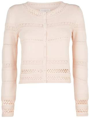 Sandro Cut-Out Cropped Cardigan