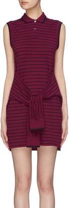 Alexander Wang Sleeve tie stripe polo dress
