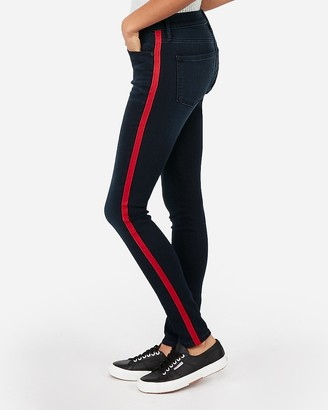 Express Mid Rise Side Stripe Stretch+ Leggings