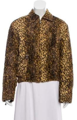 Versace Animal Print Long Sleeve Jacket