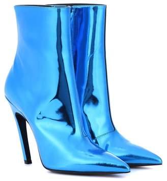 Slash Heel leather ankle boots