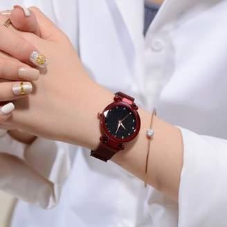 Outtop Fashion Casual Quartz Mesh Belt Watch Analog Wrist Watch