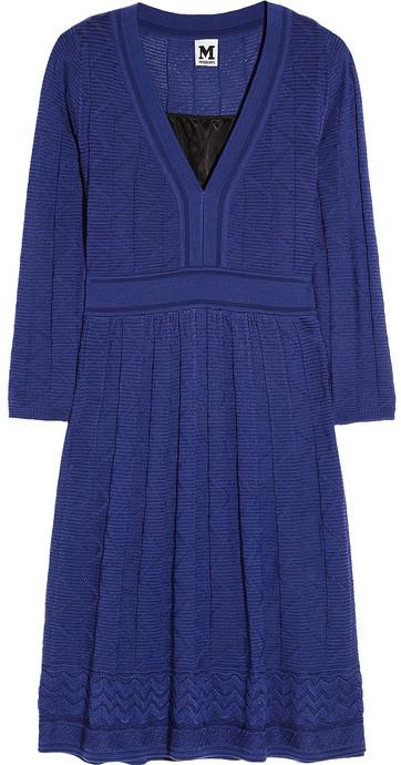 M Missoni Textured-knit wool-blend dress
