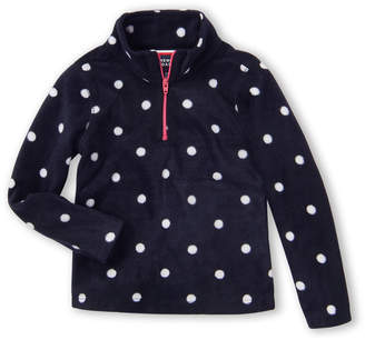 French Toast (Toddler Girls) Fleece Polka Dot Half-Zip Jacket