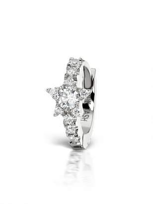Maria Tash 6.5mm Diamond Star Eternity Single Hoop Earring - White Gold