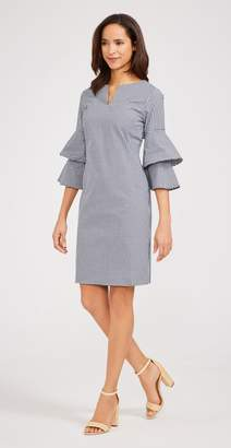 J.Mclaughlin Letty Bell Sleeve Dress in Gingham