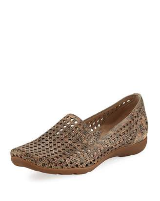 Sesto Meucci Gauri Perforated Casual Loafer, Taupe $239 thestylecure.com
