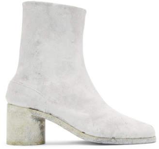Maison Margiela White Painted Tabi Boots
