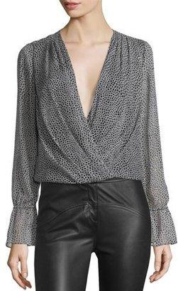 Diane von Furstenberg Svetlana Printed Wrap Blouse $268 thestylecure.com