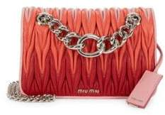 Miu Miu Chevron Quilted Leather Crossbody Bag