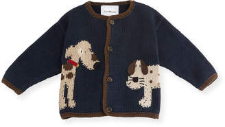 Artwalk Art Walk Woof Woof Cotton Button-Front Sweater, Blue, Size 12-24 Months