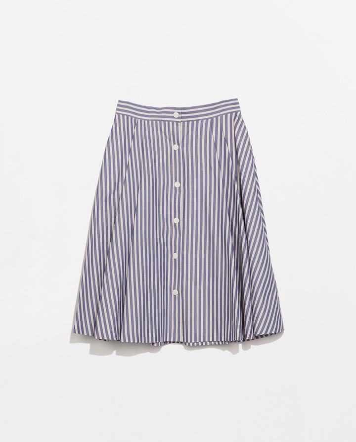 Zara Striped Full Skirt