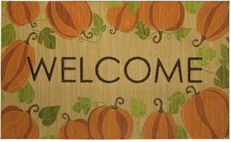 Mohawk Home Happy Fall Pumpkins ''Welcome'' Rubber Doormat - 18'' x 30''