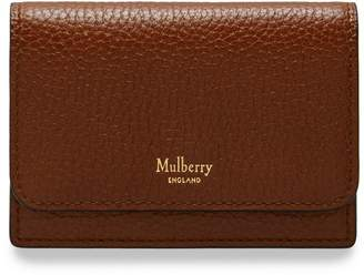 Mulberry Continental Card Holder Oak Natural Grain Leather
