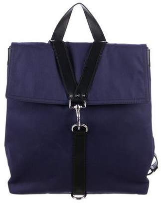 Valentino Leather-Trimmed Canvas Backpack w/ Tags