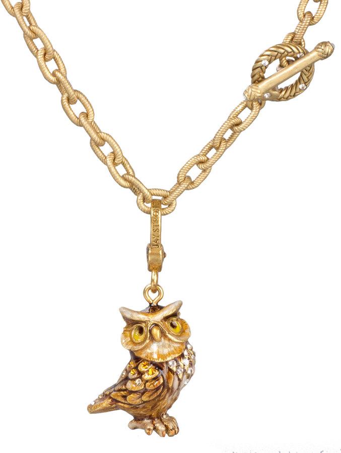 Jay Strongwater Albert Owl Charm