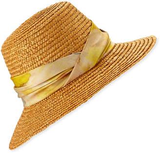 Eugenia Kim Stevie Straw Bucket Hat w  Floral Print Band eb5bf8dbfcda