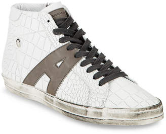 Alessandro Dell'Acqua Alessandro Dell''acqua Textured Leather High-Top Sneaker