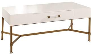 Abbyson Living Millie Gold Iron Coffee Table