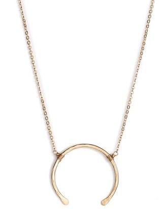 Women's Nashelle 'Imogen' Crescent Pendant Necklace $82 thestylecure.com