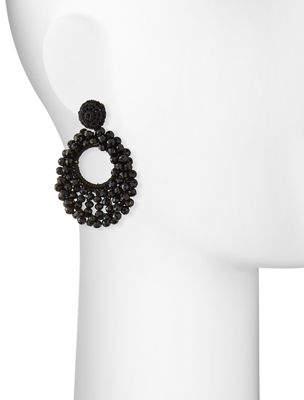 Capri Colette Sienna Beaded Hoop Drop Earrings