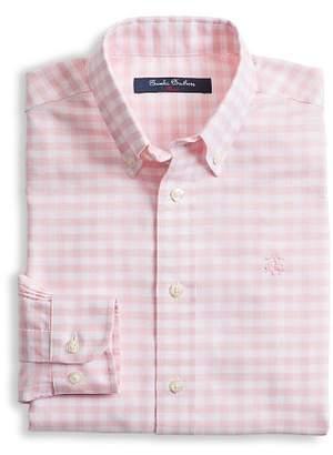 Brooks Brothers Boys' Non-Iron Oxford Gingham Shirt - Big Kid