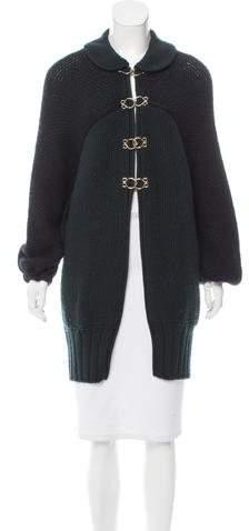 Fendi Virgin Wool Knit Coat