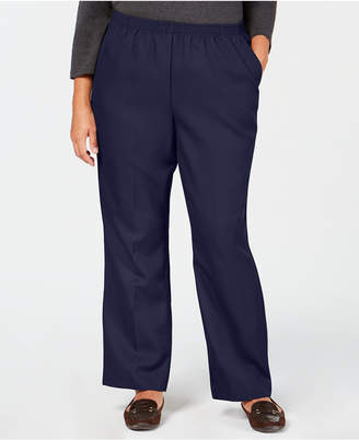 Karen Scott Plus-Size Mid-Rise Pull-On Pants
