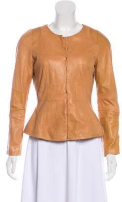Joie Long Sleeve Leather Jacket