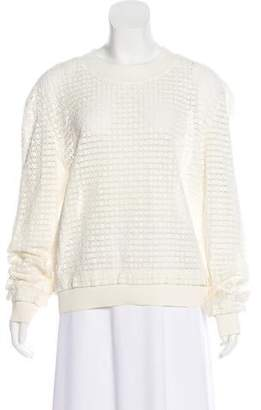 Thakoon Addition Crochet Long Sleeve Sweater