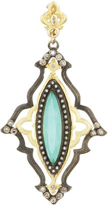 Armenta Scalloped Marquise Pendant Enhancer