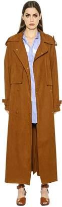 Stella McCartney Oversized Faux Suede Long Trench Coat