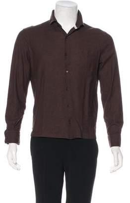 Isaia Knit Button-Up Shirt