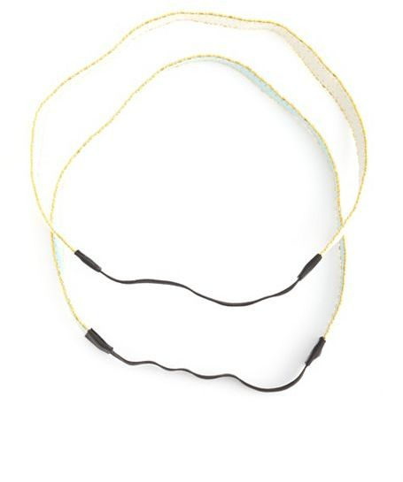 Charlotte Russe Sueded Chain Border Headwrap Set