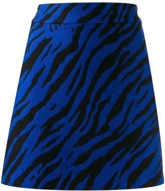 Love Moschino zebra print mini skirt