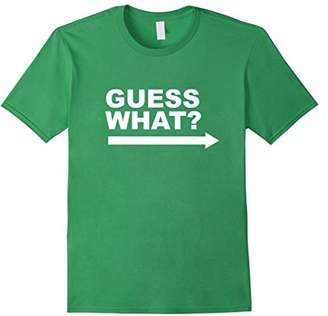 GUESS 2 Sided What Chicken Butt Punny T-shirt with Joke