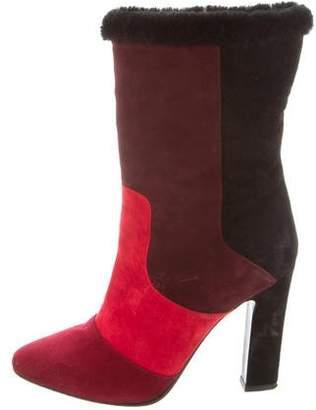 Tamara Mellon Suede High-Heel Boots