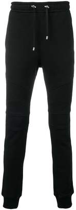 Balmain biker track trousers