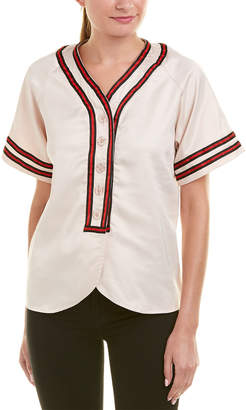 On Twelfth Baseball Embroidered Top