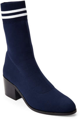 Opening Ceremony Collegiate Navy Court Knit Ankle Booties