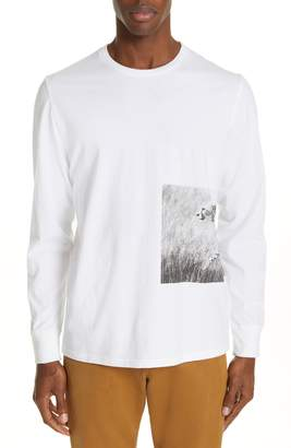 Ovadia & Sons Cheetah Graphic Long Sleeve T-Shirt