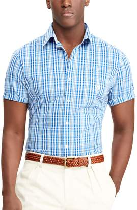 Chaps Big & Tall Classic-Fit Checked Easy-Care Woven Button-Down Shirt