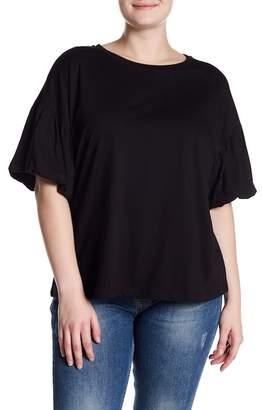 Bobeau Bubble Sleeve Knit Tee (Plus Size)