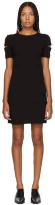 Helmut Lang Black Wide Rib Dress
