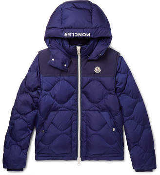 Moncler Arles Quilted Shell Hooded Down Jacket With Detachable Sleeves