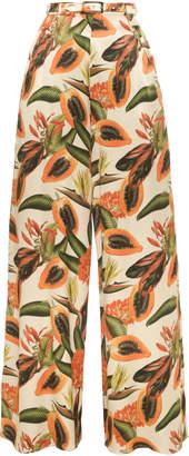 Lena Hoschek Rio Printed High-Waisted Wide-Leg Pants