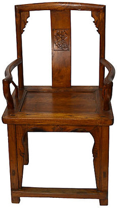 One Kings Lane Vintage Antique Chinese Hand-Carved Armchair - FEA Home