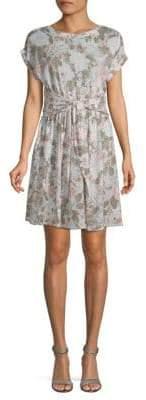 Rebecca Taylor Penelope Floral-Print Linen Dress