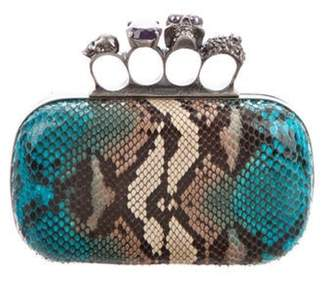 Alexander McQueen Python Knuckle Box Clutch multicolor Python Knuckle Box Clutch